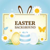 Fondo di vettore di festa della primavera di Pasqua
