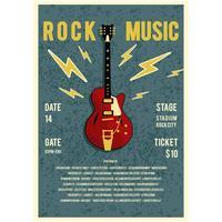 Vettore del manifesto di concerto di musica rock