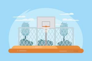 Vettore del campo da pallacanestro