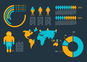 Vettori iconici di visualizzazione dei dati