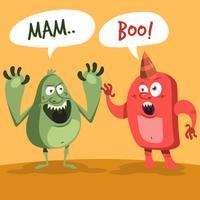 illustrazione di carattere troll simpatico cartone animato