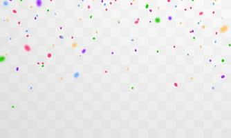 coriandoli e nastri colorati. modello di sfondo celebrazione