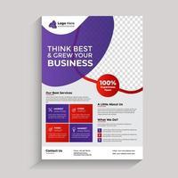 modello di volantino moderno business aziendale. design brochure, copertina layout moderno, relazione annuale, poster, flyer vettore