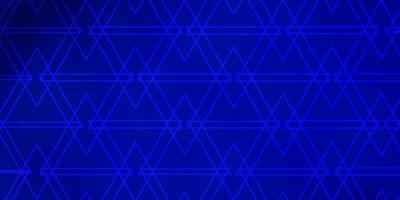 sfondo vettoriale blu scuro con triangoli.
