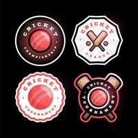set di logo vettoriale circolare di cricket