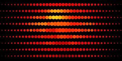sfondo vettoriale arancione scuro con bolle.