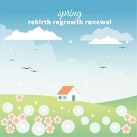 Design piatto primavera Design vettoriale paesaggio