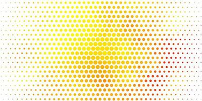 sfondo vettoriale arancione chiaro con cerchi.