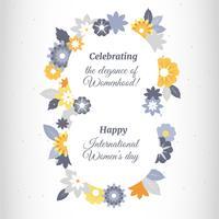 Vettore della cartolina d'auguri di giorno delle donne