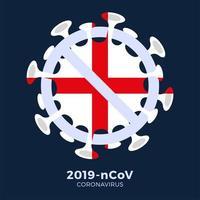 bandiera Inghilterra segno attenzione coronavirus vettore