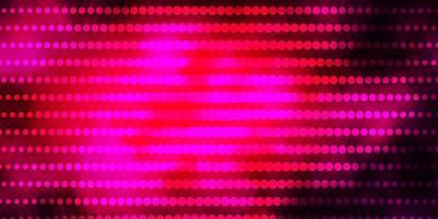 sfondo vettoriale rosa scuro con cerchi.