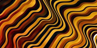 layout vettoriale arancione chiaro con curve.