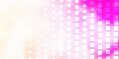 trama vettoriale rosa chiaro, giallo in stile rettangolare.