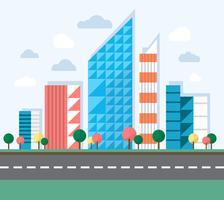 Grande illustrazione della città vettore