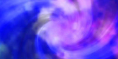 modello vettoriale rosa chiaro, blu con nuvole.