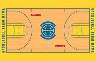 Illustrazione del programma del pavimento del campo da pallacanestro vettore