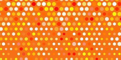 sfondo vettoriale arancione chiaro con punti.