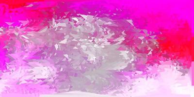 sfondo poligonale vettoriale rosa chiaro.