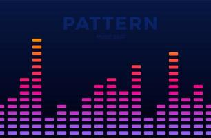 vettore di musica digitale equalizzatore onde audio orizzontali