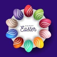 banner di uovo di Pasqua vettore