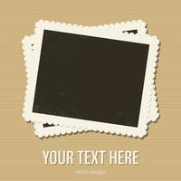 vintage photo frame design illustrazione vettoriale isolato su sfondo