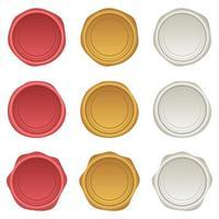 illustrazione di progettazione di vettore del sigillo di cera isolato su priorità bassa bianca