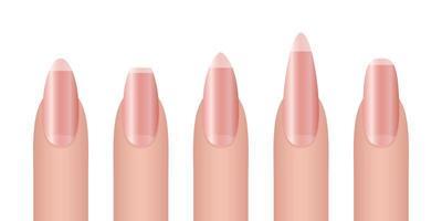 set di mock-up per unghie donna