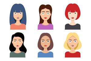 set di avatar donna