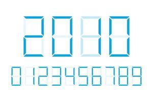 numeri digitali disegno vettoriale illustrazione isolato su sfondo bianco