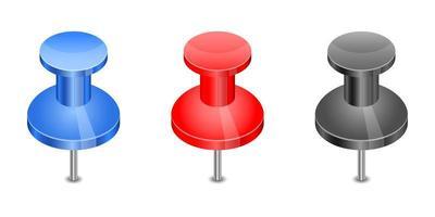 push pin set disegno vettoriale illustrazione isolato su sfondo bianco