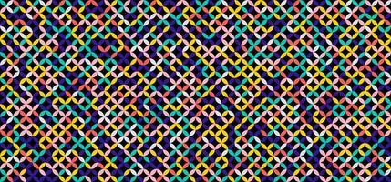 cerchi geometrici tondo motivo floreale senza cuciture colorato su sfondo nero vettore
