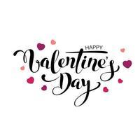 vector happy valentines day vintage card con scritte