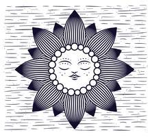 Illustrazione disegnata a mano in bianco e nero di vettore