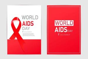 nastro rosso di consapevolezza dell'hiv. concetto di giornata mondiale contro l'AIDS. moderna illustrazione vettoriale