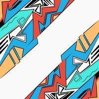 stile di disegno graffiti urbani, sfondo luminoso futuristico geometrico astratto