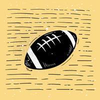 Vettore disegnato a mano della siluetta di football americano