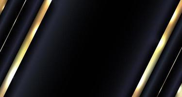 banner web design astratto brillante oro metallico sovrapposto diagonale su sfondo blu stile di lusso vettore