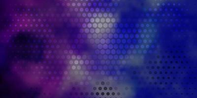 modello vettoriale rosa chiaro, blu con cerchi.