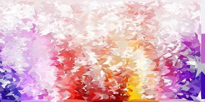 modello di triangolo poli vettoriale viola chiaro, rosa.