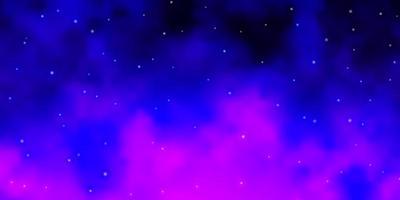layout vettoriale viola chiaro, rosa con stelle luminose.