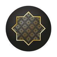 decorazione stella d'oro ramadan kareem