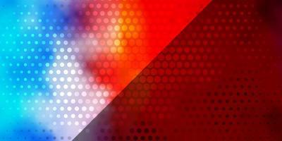 sfondo vettoriale multicolore chiaro con cerchi.