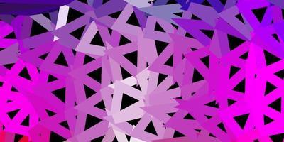 disegno a mosaico triangolo vettoriale viola chiaro, rosa.