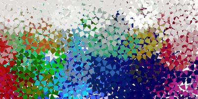 sfondo vettoriale azzurro con linee, triangoli.