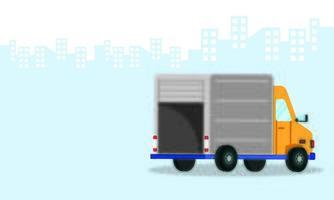 icona isolata di servizio di consegna camion