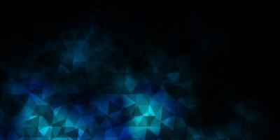 modello vettoriale blu scuro con stile poligonale.
