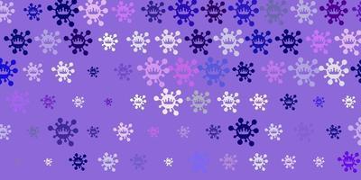 texture vettoriale viola chiaro, rosa con simboli di malattia.