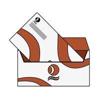 icona isolata di mockup di posta della busta vettore
