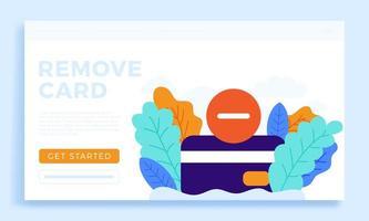 rimuovere l'illustrazione di riserva di vettore della carta di credito