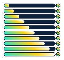 set di barre di caricamento del progresso fluido vettore